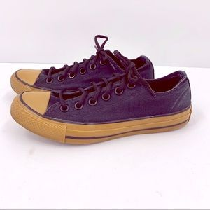 Converse All Star Black Low Top Gum Sole Sneakers